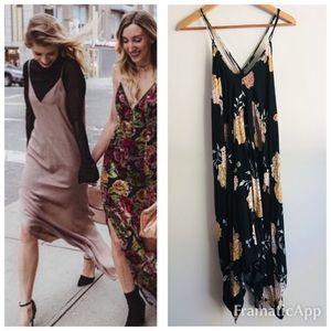 {lovestitch} Dark Floral Slip Dress